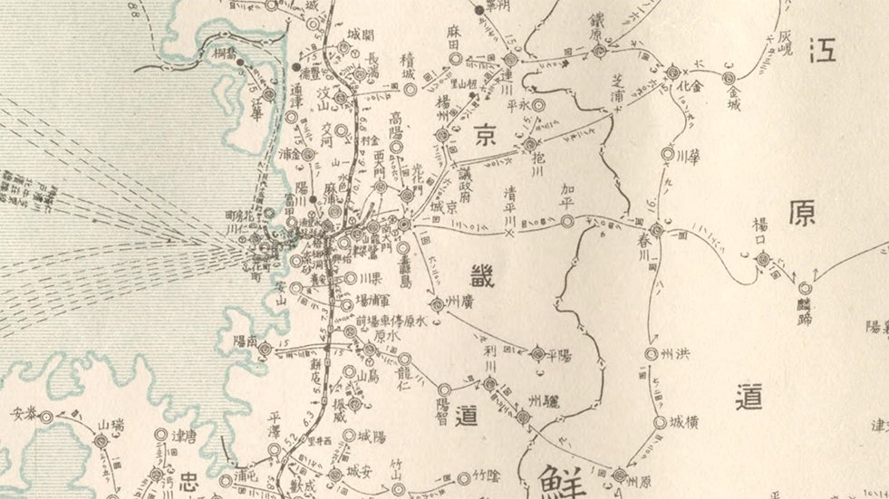 Detail of Korea 1911 map: Seoul area