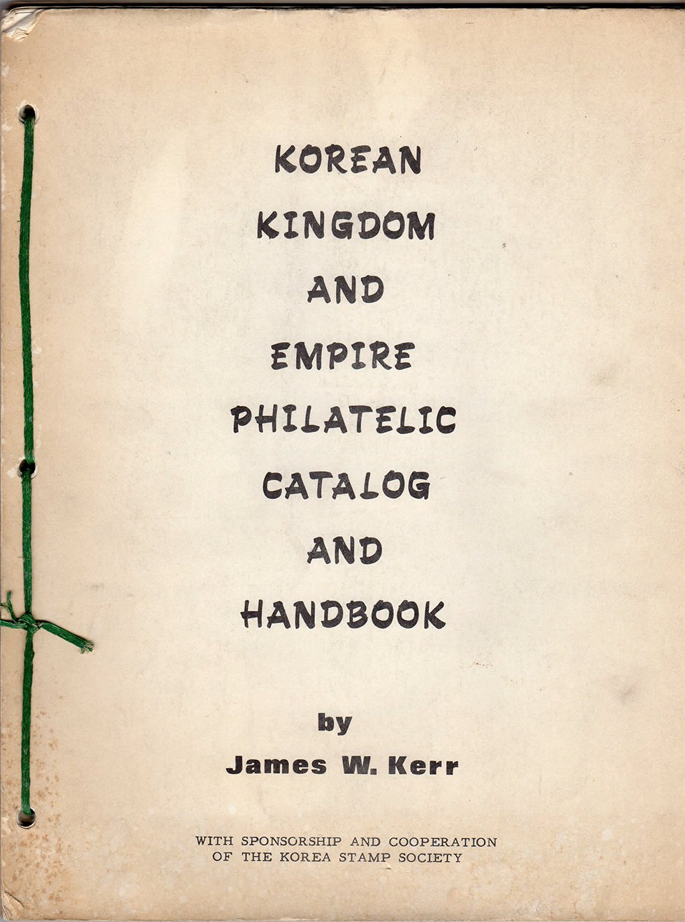 """Download (KSS Members Only): """"Korean Kingdom and Empire Philatelic"""